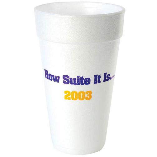 20 oz. White Foam Cup