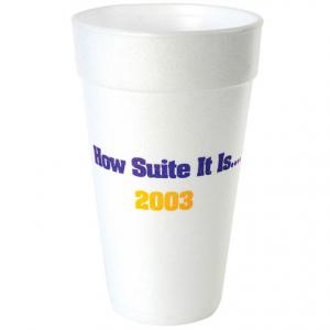 20 oz. White Foam Cup