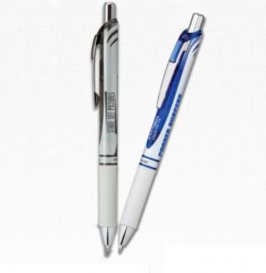 Pearl White EnerGel Deluxe RTX Retractable, Medium Line Gel Pen