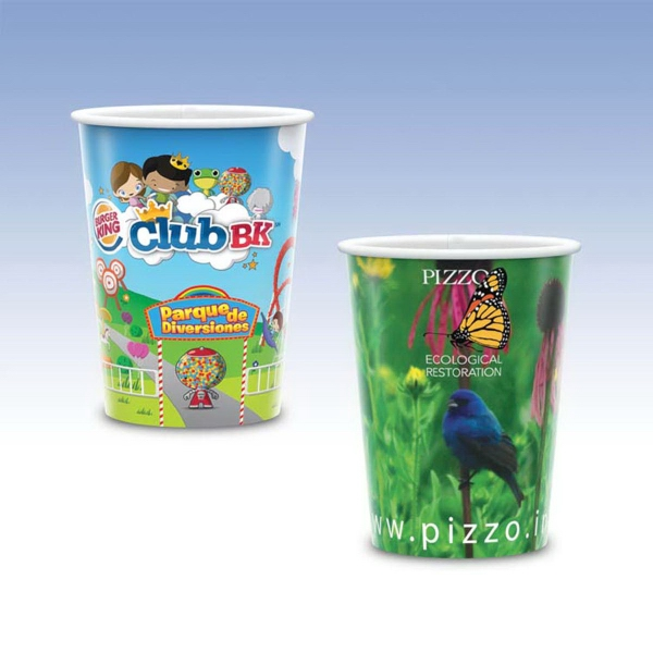 17 Oz. Full Color White Plastic Cup
