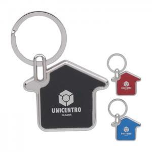House Shaped Metal Key Chain