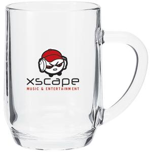 20oz Clear Glass Mug with Handle