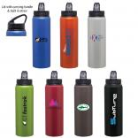 28 Oz Aluminum Water Bottle with Twist-Off Threaded Cap