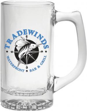 12 oz. Starburst Glass Mug with Oversized Handle