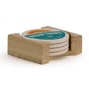 Four Piece Round Coaster Set