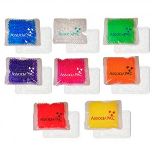 """4.5"""" x 4.5"""" Cloth-Backed Gel Beads Cold/Hot Therapy Pack"""