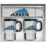 3 Piece Stainless Steel Thermos and Thermal Mugs Gift Set