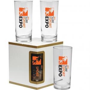 Deluxe 4 Piece Cooler Beverage Glass Set