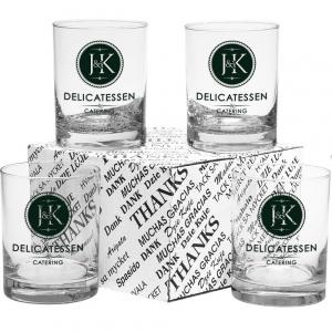 Deluxe 4 Piece Double Old Fashioned Set