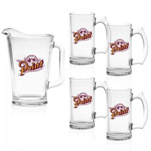 5 Piece Pitcher and Mug Set