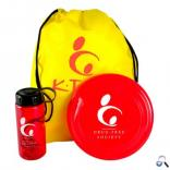 Upgraded Three Piece Sports Kit with Drawstring, Twist Top Water Bottle, and Flyer