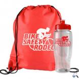 Non-Woven Drawstring Backpack and Sports Bottle Set