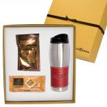16 oz Stainless Steel Tumbler and Godiva Hot Cocoa & Biscuit Gift Set