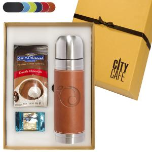 16.9 oz Tuscany Thermal Container & Ghirardelli Hot Cocoa & Chocolate Gift Set