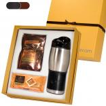 16 oz Leeman Stainless Steel Tumbler and Godiva Hot Cocoa & Biscuit Gift Set