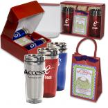 16 oz. Double Wall Acrylic Tumbler Set with Hot Cocoa Mix and Mini Whisk Gift Box