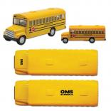 "Die Cast 5"" Replica School Bus with Stop Sign"