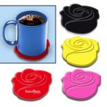 Silicone Rose 4 Coaster Set