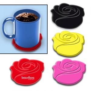 Silicone Rose 4 Coaster Set