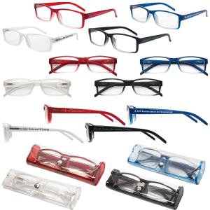 Soft Feel Reading Glasses with Matching Protective Case
