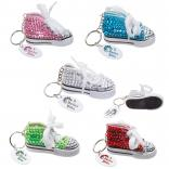 Gym Shoe Rhinestone Bling Keytag