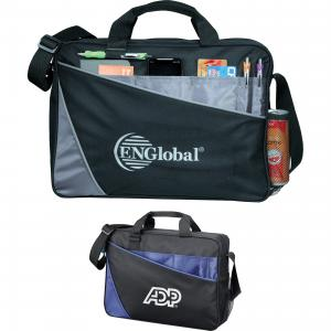 Angled Accent Compu-Tote Bag with Business Accessory Pockets