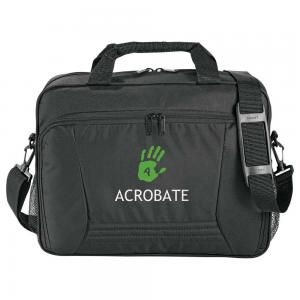 Dual Zip Business Briefcase with Water Bottle Pocket