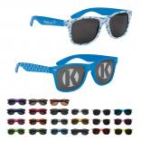 Neon-Brite Plastic Blues Brother Style Sunglasses Direct Import