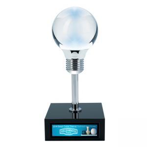 Lightbulb Innovative Idea Crystal Award