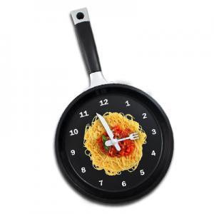 Spaghetti Frying Pan Wall Clock