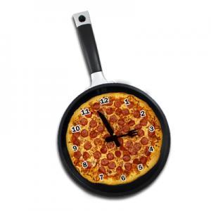 Pizza Frying Pan Wall Clock