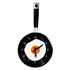 Egg Frying Pan Wall Clock