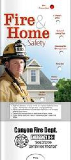 Fire and Home Safety Slide Chart