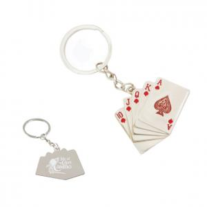 Royal Flush Casino Cards Keychain