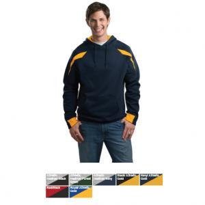 Sport-Tek Color-Spliced Pullover Hooded Sweatshirt