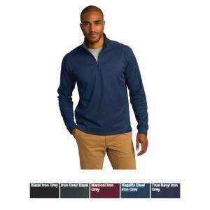 Port Authority Vertical Texture 1/4-Zip Pullover