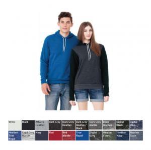 Bella + Canvas Unisex Poly/Cotton Hooded Pullover Sweatshirt