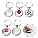 Soccer Ball Polished LED Key Ring