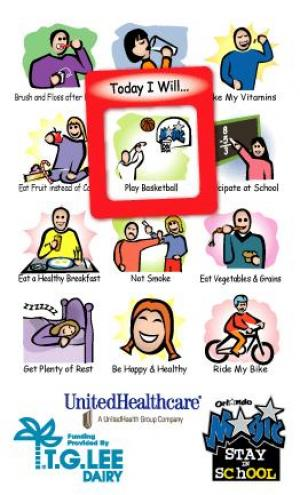 Youth Health Themed Frame of Mind Magnet