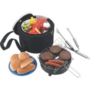 Portable Koozie Barbecue with Cooler Bag