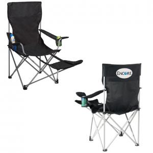Game Time Lounge Chair with Two Cup Holders and Leg Rest