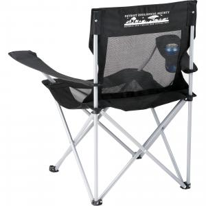 Mesh Camping Chair with Cupholder