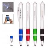 Bright Write Pen With LED Light and Stylus