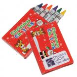 6 Pack Box Christmas Crayons