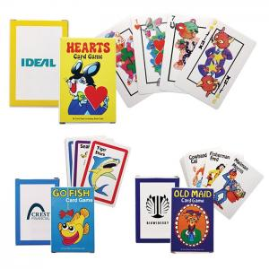 Old Maid, Go Fish, and Hearts Card Games
