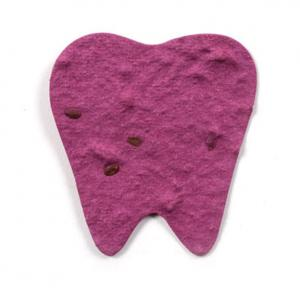Custom Printed Tooth Shaped Seed Paper