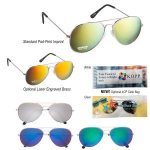 Classic Mirrored Aviator Style Sunglasses