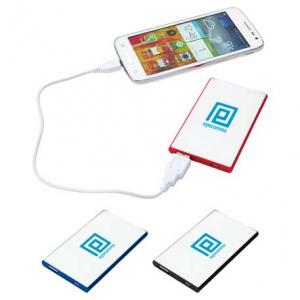 2000 mAh Rechargeable Credit Card Thin Power Bank