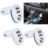 Illuminating LED Ring Dual Port Car Charger
