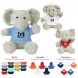 "6"" Plush Elephant With T-Shirt"
